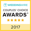 Sweet Disposition WeddingWire Couples Choice Award Winner 2017