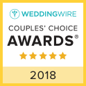 A Bridal World WeddingWire Couples Choice Award Winner 2018